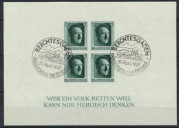 Deutsches Reich Block 8 O Sonderstempel Berchtesgaden - Duitsland