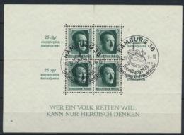 Deutsches Reich Block 11 O Sonderstempel Hamburg - Duitsland