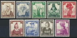 Deutsches Reich 9 Werte Aus 588/97 ** Postfrisch - Deutschland
