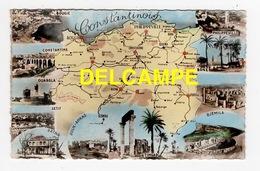DD / CARTE GÉOGRAPHIQUE DU CONSTANTINOIS ET MULTIVUES / ALGÉRIE - Mapas