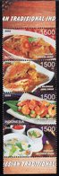 Indonesia - 2004 - Traditional Food - Mint Stamp Set - Indonesien