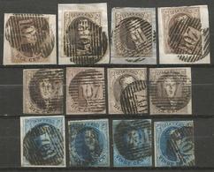 Belgique - Médaillons - Oblitérations P107 MANAGE - Postmark Collection