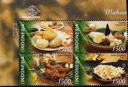 Indonesia - 2006 - Traditional Food - Mint Stamp Set - Indonesien