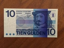 PAYS BAS - 10 Gulden - P 91b - 25 April 1968 - Frans Hals - UNC - [2] 1815-… : Royaume Des Pays-Bas