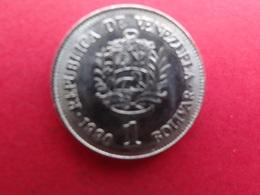 Venezuela  1 Bolivar  1990  Y 52a2 - Venezuela