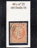 Paris - N° 23 Obl étoile 16 - 1862 Napoléon III