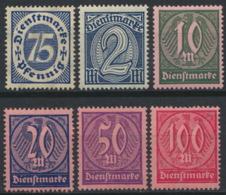 Deutsches Reich Dienst 69/74 ** Postfrisch - Servizio