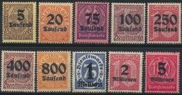 Deutsches Reich Dienst 89/98 ** Postftrisch - Servizio