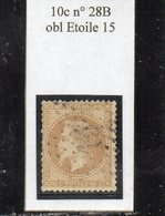 Paris - N° 28B Obl étoile 15 - 1863-1870 Napoleon III Gelauwerd