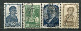 RUSSIE -  Yv N° 611A,612,613,613A  (o) 10,20,40,50k  Série Courante Sans Filigrane   Cote  1,5  Euro  BER 2 Scans - 1923-1991 USSR