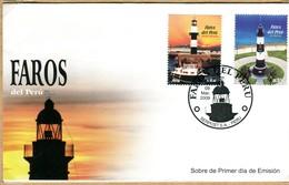 Perù 2009 FDC   Lighthouses / Fari - Perú