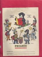 """PROTEGE CAHIER """" PHILBEE """" LE BON PAI D'EPICES DE DIJON . 4 SCANES . DEVANT - 2 BORDS INT & LE DOS - Protège-cahiers"""