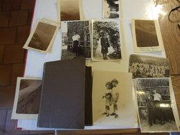 PETIT ALBUM DE 98 CPA CARTES PHOTOS MILITAIRES FEMMES ENFANTS CONSCRITS ET LOT 10 PHOTOS 55 SCANS TOUTE PHOTOGRAPHIER - Cartoline