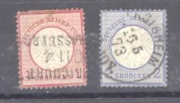 GRX 633  -  Allemagne  -  Reich  :  Mi  4-5  (o) - Gebruikt
