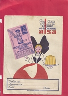"""PROTEGE CAHIER """" ALSA """"  . 4 SCANES . DEVANT - 2 BORDS INT & LE DOS - Protège-cahiers"""