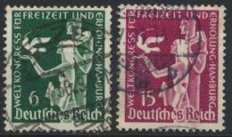 Deutsches Reich 622/23 O - Usados