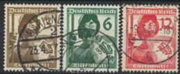 Deutsches Reich 643/45 O - Usados