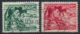 Deutsches Reich 684/85 O - Usados