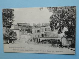 MAULEON LICHARRE -- Café Du Commerce - Boucherie - Place De La Croix-Blanche - Automobile - ANIMEE - Mauleon Licharre