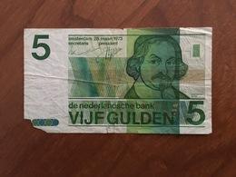 PAYS BAS - 5 Gulden - P 95 - 28 Maart 1973 - J. Van Den Vondel - AB - G - 5 Gulden