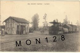VOLNAY (72)  LA GARE (train) - Frankreich