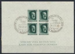Deutsches Reich Block 8 O Sonderstempel Berlin - Duitsland