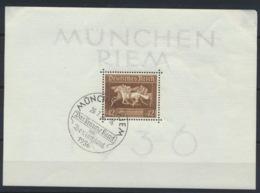 Deutsches Reich Block 4 O Sonderstempel München-Riem - Duitsland