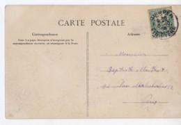 Cachet A3 QUIMPER 29 Finistere, 1905, Blanc 5c Vert Bleu N°111B, Baie Des Trepasses Pointe Du Van Région D'audierne - Postmark Collection (Covers)
