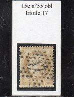Paris - N° 55 Obl étoile 17 - 1871-1875 Cérès