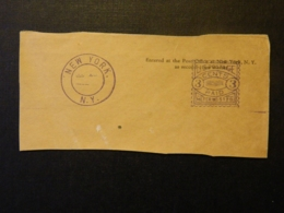 New-York US Postage Meter 5129 On Fragment - Machine Stamps (ATM)