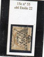 Paris - N° 55 Obl étoile 22 - 1871-1875 Cérès