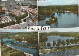 91 - Très Belle Carte Postale Semi Moderne Dentelée De  VERT LE PETIT    Multi Vues - Vert-le-Petit