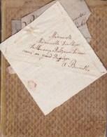 BEGUINE Registre Des Rentes Dues à Mademoiselle De VILLEGAS De CLERCAMP Religieuse Grand Béguinage Années 1820-1830 - Manuscrits