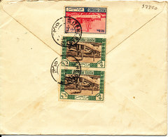 Persia Iran Cover Sent To Denmark With 3 Stamps On The Backside Of The Cover - Iran