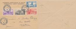 J47 - MARCOPHILIE - Enveloppe Conférence Internationale Du Travail - Paris - 1945 - Poststempel (Briefe)