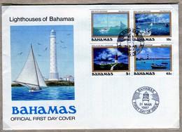 Bahamas 1987 FDC  Lighthouses / Fari - Bahamas (1973-...)