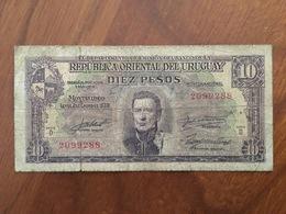 URUGUAY - 10 Pesos - P 37 - 2 De Enero 1939 - Republica Oriental De Uruguay - B - VG - Uruguay