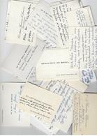 Lot De 50 Cartes De Visite-année 1960 - Cartes De Visite