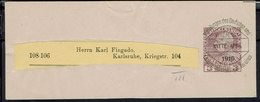 Autriche - 1901 - François-Joseph 1er Sur Bande Journal 3h Préoblitéré, De Karlsruhe - B/TB - - Ganzsachen