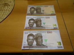 NIGERIA   2014  -  2015 - 2016   -  1000  NAIRA  BILLETS  LOT - Nigeria
