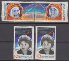 Russia, USSR 12/19.07.1963 Mi # 2782-84 A, 2784 B, Vostok 5 & 6 Space Group Flight, V. Bykovsky & V. Tereshkova (II) - Nuevos