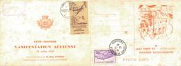 J47 - MARCOPHILIE - Carte Souvenir Manifestation Aérienne - 13 Juillet 1947 - Chateauroux - 36 - Air Post