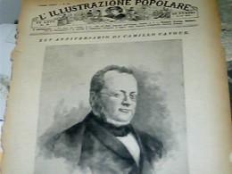 C136 1886 ILLUSTRAZIONE POPOLARE  CAMILLO BENSO DI CAVOUR STAMPA INC  CARTA SOTTILE - Ante 1900