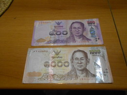 THAILAND   500  AND  1000  BATH  BILLETS - Thailand