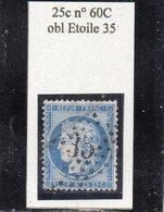 Paris - N° 60C Obl étoile 35 - 1871-1875 Cérès