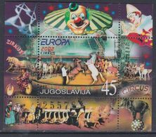 Yougoslavie BF N° 54 XX Europa Le Cirque, Le  Bloc Sans Charnière, TB - Blocs-feuillets