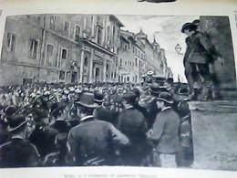 C137 1889 ILLUSTRAZIONE POPOLARE  FUNERALI A ROMA DI AGOSTINO BERTANI STAMPA INC  CARTA SOTTILE - Ante 1900