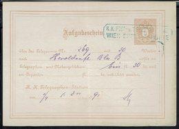 Autriche - 1891 - Entier Postal 5 Kr - Reçu D'un Télégramme - - Entiers Postaux