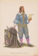 Genval, Médecin Sous Louis XIII, Carte Recherche Et Industrie Thérapeutiques. 16/23,5 Cm. - Santé
