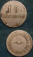 M_p> Costa Rica Gettone Trasporti 10 Centavos CR - Monetari / Di Necessità